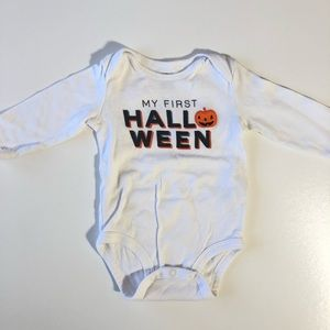 6 Month Carters First Halloween 🎃 Pumpkin Onesie